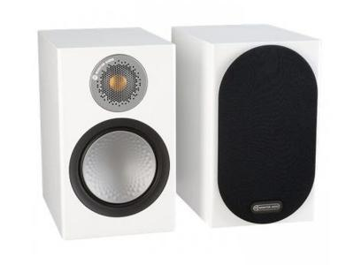 Monitor Audio SILVER 50 Ultra-Compact Bookshelf Speakers - Satin White (Pair) - Open Box