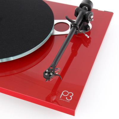 Rega Planar 3 Turntable - P3 without Cartridge (Red)