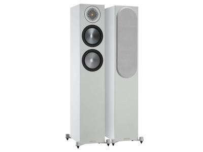 Monitor Audio Bronze 200 Floorstanding Speakers - White (Sold as Pair)