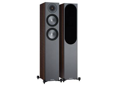 Monitor Audio Bronze 200 Floorstanding Speakers - Walnut (Sold as Pair)