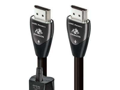 Audioquest Dragon eARC HDMI Cable with 72v DBS - 8K-10K 48Gbps (3 Meter)