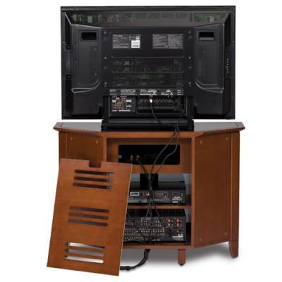 BDI NOVIA Single-wide Tall Corner Cabinet - Cocoa Stained Cherry (8421)