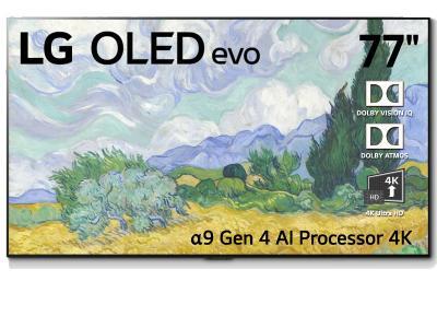 "LG 77"" OLED evo 4K Smart TV with AI ThinQ, A9 Processor - OLED77G1 (G1 Series)"