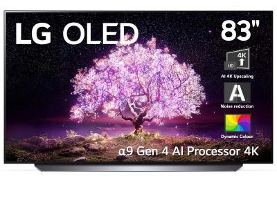 "LG 83"" OLED 4K Smart TV with AI ThinQ, A9 Processor - OLED83C1 (C1 Series)"