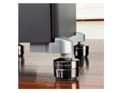 IsoAcoustics GAIA I Acoustics Isolations Stand, Machine Stainless Steel, Set of 4 (For 220 lbs or less)