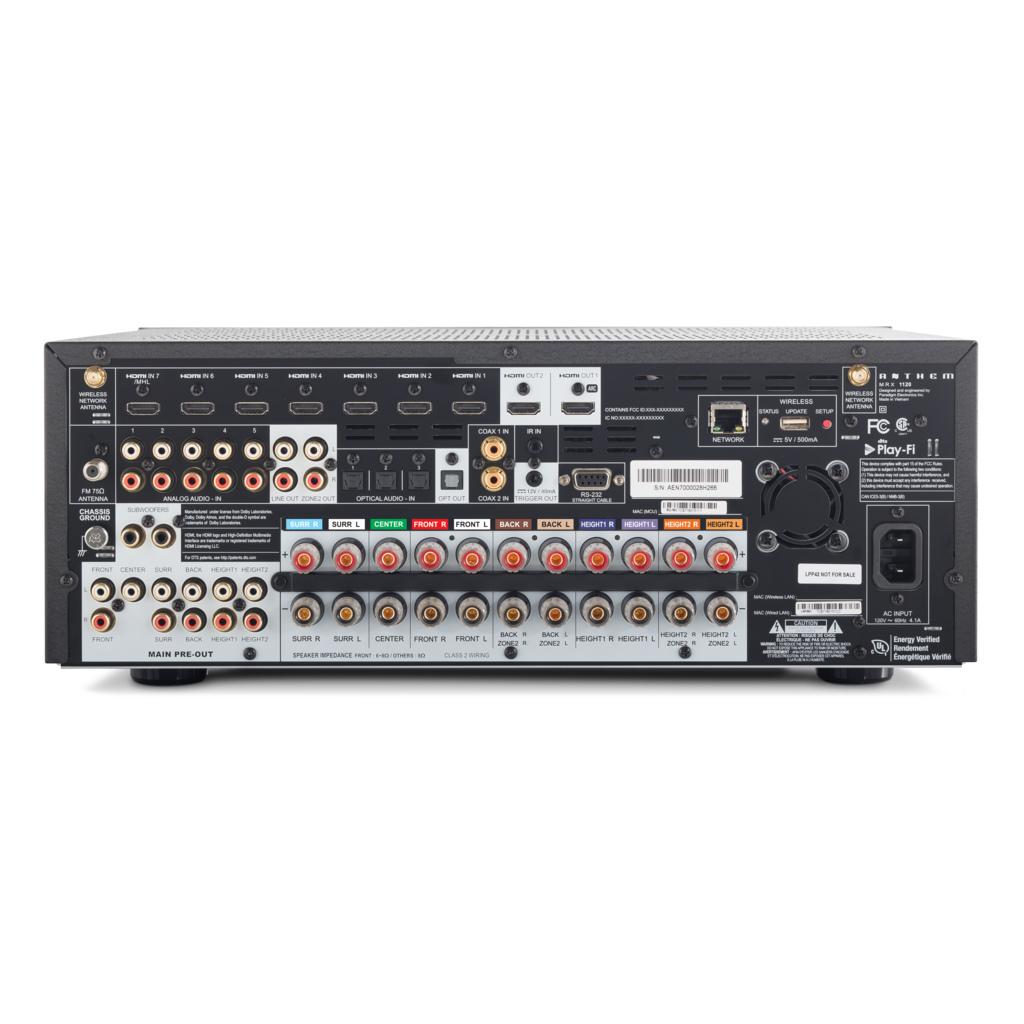 Anthem MRX1120 Dolby Atmos AV Receiver 11 Amplifier Channels