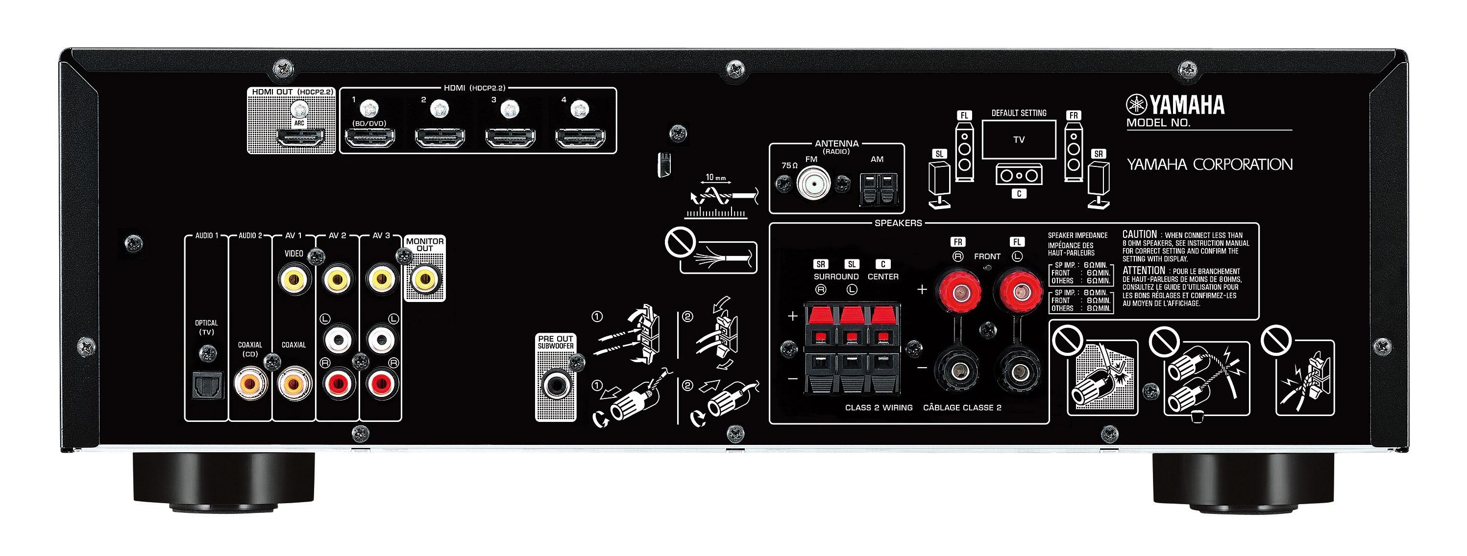 yamaha rx v383 5 1 channel network av reciver. Black Bedroom Furniture Sets. Home Design Ideas