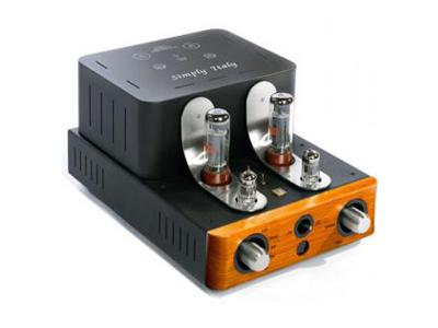 Unison Research SIMPLY ITALY Class A Integrated Stereo Tube Amplifier - Pine (12 + 12 W RMS)