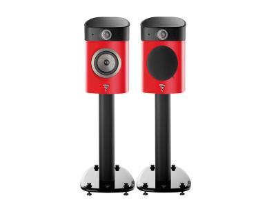 Focal SOPRA N°1 Bookshelf Loudspeakers - Red - Stand Included (Pair)