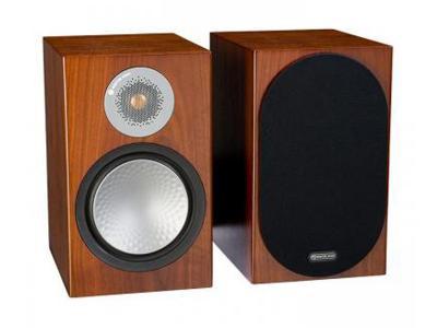 Monitor Audio SILVER 100 Audiophile Bookshelf Speaker - Walnut (Pair)