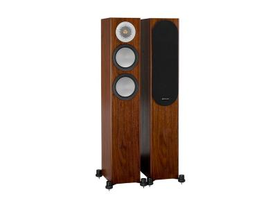 Monitor Audio SILVER 200 Compact Floorstanding Speakers - Walnut (Pair)