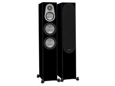 Monitor Audio SILVER 300 Audiophile Floorstanding Speaker - High Gloss Black (Pair)