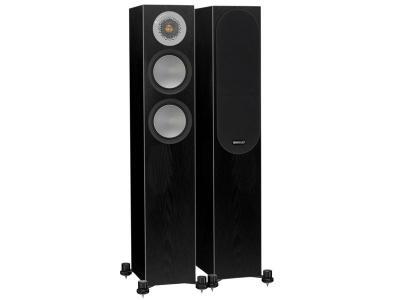 Monitor Audio SILVER 200 Compact Floorstanding Speakers - Black Oak (Pair)