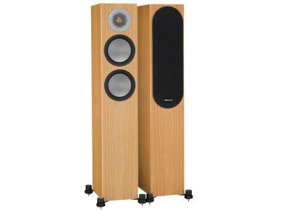 Monitor Audio SILVER 200 Compact Floorstanding Speakers - Natural Oak (Pair)