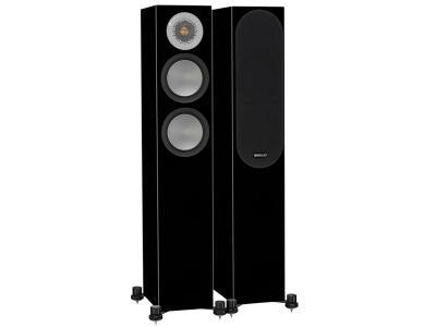 Monitor Audio SILVER 200 Compact Floorstanding Speakers - High Gloss Black (Pair)