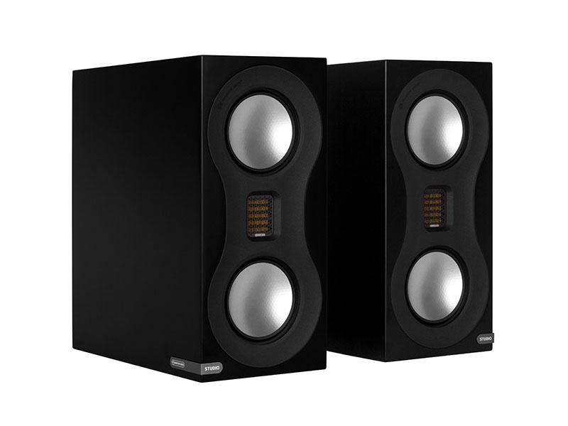 monitor audio studio bookshelf speakers - white