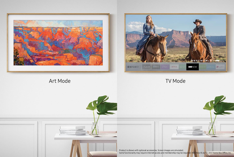 samsung 65 4k uhd led frame tv ls003 series un65ls003. Black Bedroom Furniture Sets. Home Design Ideas